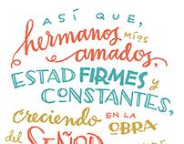 Spanish Lettering