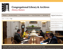 Congregational Library Web Redesign