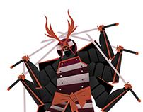 SAMURAGNO (samurai-spider)