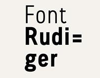 Rudiger / Font // 2014