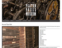Platen Press Museum Website (in progress)