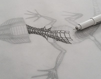 Lizzard curves - personal illustration.