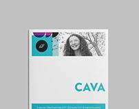 CAVA Academy Brochure Design