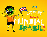 Ilustraciones Mundial Brasil 2014