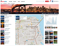 UX/UI Design - City Page vs. Landmark Page - Pashadelic