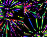 Rainbow Lines - VJ Loop Pack (4in1)