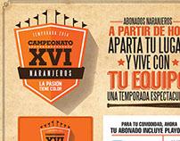 — Publicidad Naranjeros de Hermosillo