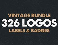 MEGA BUNDLE 326 Vintage Logos Badges
