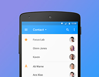 Android L - Contact Screen