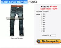 Jeans Levis pas cher