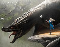 Daenerys and Drogon - Game of Thrones Fan Art