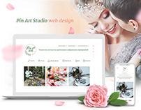 Pin Art Studio | responsive website