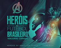 Heroes of Brazilian Teams - THIRD KITS MARVEL CONCEPT