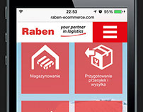 Raben e-commerce RWD website