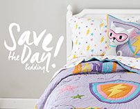 Save the Day Bedding for The Land of Nod.