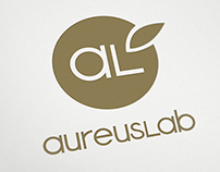 Logo redesign, rollup, poster & sticker for AureusLab