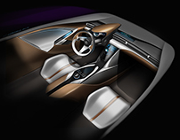 Lexus next generation shifter and interior