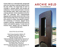 Archie Held Trifold Brochure - Currently in Print