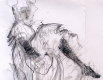 Sketches from the Toulouse Lautrec exhibition