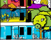 Flugger farby - Mural, design, illustration