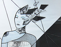 Deconstruct - Stained glass artwork