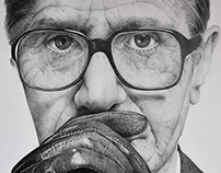 Gary Oldman - pencil portrait
