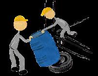 BASF | Descarga segura de tambores sin montacargas