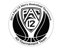 2014 Pac-12 Basketball Trophies and Medals