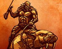 Orc rider with Atlatl