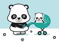 Panda Greetings Card (Moo.com)