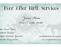 Ever After Birth Services Business Card