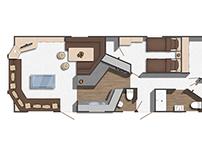 Floor plan 2D caravan