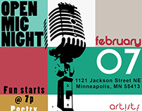 Open Mic Flyer (Mill City Church)