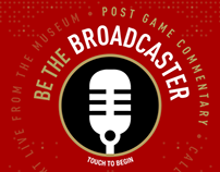 49ers Museum - Be The Broadcaster Interactive