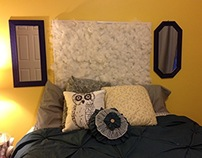 Soft Textured DIY Headboard