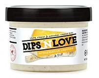 Dips 'N Love Packaging Design