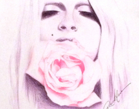 Andrej Pejic in Colored pencil