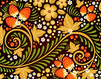 Traditional Russian Ornament Seamless Patterns