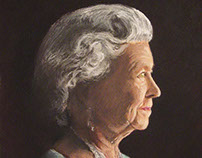 Portrait of Queen Elizabeth in pastels