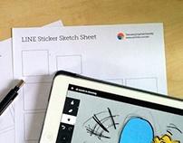 LINE Sticker Sketch Sheet