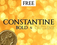 Constantine Typeface (Bold & Outline)