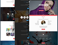 Personal One - OnePage / VCard / Wordpress Theme
