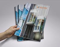Catalogue design for Hestek Elevator Company