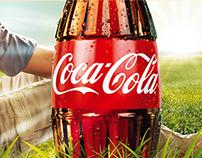Cartelería promocional Coca-Cola