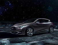 Infiniti Q30 concept. On the moon.