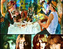 BEATLES LUNCH WITH RENOIR + FAB FOUR POSTER
