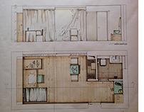 Work Studio/ Transformable furniture