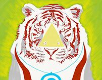 iPad Sketch - Space Tiger in Adobe Sketch