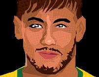 Ilustração Neymar