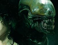 'Natum Corpus' Art tribute of 'Alien'